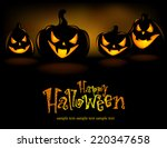 halloween illustration with... | Shutterstock .eps vector #220347658