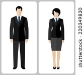 woman and man vector colorful...   Shutterstock .eps vector #220349830