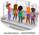 illustration featuring a group... | Shutterstock .eps vector #220354906