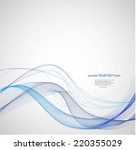 abstract waves   Shutterstock .eps vector #220355029