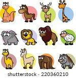 super set of vector cute... | Shutterstock .eps vector #220360210