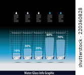vector of water glass info... | Shutterstock .eps vector #220360828