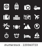 travel and holiday icons | Shutterstock .eps vector #220363723