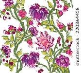 vintage flower background | Shutterstock . vector #220364458