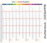 2015 year annual planner.... | Shutterstock .eps vector #220364998