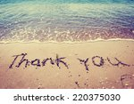 thank you words written on the... | Shutterstock . vector #220375030