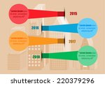 circle of infographic stick on... | Shutterstock .eps vector #220379296