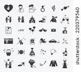 wedding icons set. illustration ... | Shutterstock .eps vector #220379560