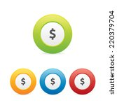 colorful round dollar sign icons
