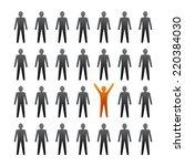 unique person in the crowd.  | Shutterstock . vector #220384030