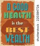 retro vintage motivational... | Shutterstock . vector #220384726