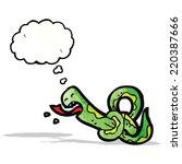 knotted snake cartoon | Shutterstock .eps vector #220387666
