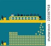 big data technology managing... | Shutterstock .eps vector #220387918