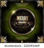 merry christmas. vector... | Shutterstock .eps vector #220392469