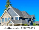 the roof of the house with nice ... | Shutterstock . vector #220394419