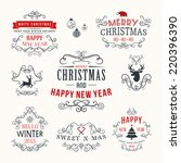 christmas decoration set of... | Shutterstock .eps vector #220396390