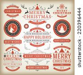 christmas decoration vector... | Shutterstock .eps vector #220396444