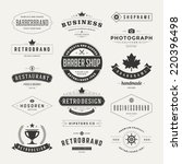 Retro Vintage Insignias or Logotypes set. Vector design elements, business signs, logos, identity, labels, badges and objects.  | Shutterstock vector #220396498