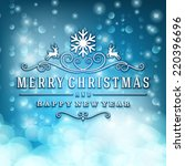 merry christmas message and... | Shutterstock .eps vector #220396696