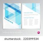 abstract vector modern flyer  ... | Shutterstock .eps vector #220399534