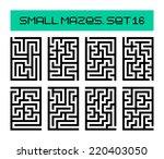 small mazes set 16 | Shutterstock . vector #220403050