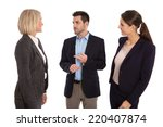 isolated business team  man and ... | Shutterstock . vector #220407874