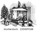 christmas traditional indoor...   Shutterstock .eps vector #220409188