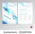 vector abstract flyer design... | Shutterstock .eps vector #220409344