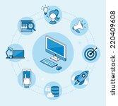 web development concept  vector ... | Shutterstock .eps vector #220409608