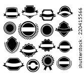 set of retro vintage labels  | Shutterstock .eps vector #220415566