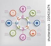 infographic elements. vector... | Shutterstock .eps vector #220421674
