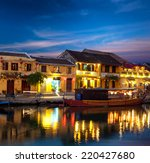 hoi an old town in vietnam... | Shutterstock . vector #220427680