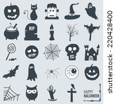 various halloween icons | Shutterstock .eps vector #220428400