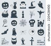 various halloween icons | Shutterstock .eps vector #220428400