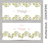 vintage floral invitation cards ... | Shutterstock .eps vector #220429390
