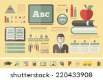 education infographics. | Shutterstock .eps vector #220433908