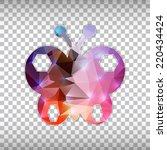 abstract creative concept... | Shutterstock .eps vector #220434424