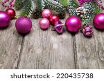 christmas decoration on the... | Shutterstock . vector #220435738