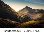 mountains in highland scotland | Shutterstock . vector #220437766