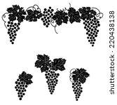 vine grape ornament element...   Shutterstock .eps vector #220438138