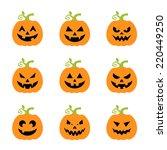 halloween pumpkins set.  | Shutterstock .eps vector #220449250