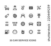 car service icons set. | Shutterstock .eps vector #220449259