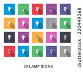 lamp icons with shadow. | Shutterstock .eps vector #220449268
