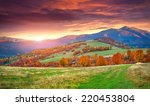 colorful autumn sunrise in the... | Shutterstock . vector #220453804