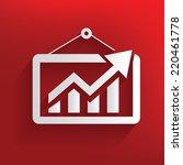 profit symbol on red background ... | Shutterstock .eps vector #220461778