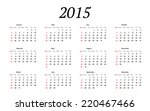 2015 year calendar.  weeks...   Shutterstock .eps vector #220467466