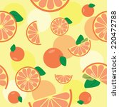 seamless pattern with orange or ... | Shutterstock .eps vector #220472788