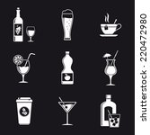 drink white icons | Shutterstock . vector #220472980