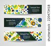 colorful vector set of three... | Shutterstock .eps vector #220473418