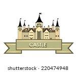 castle building sign. travel... | Shutterstock .eps vector #220474948
